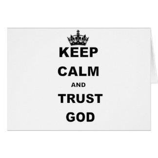 BEHALTEN Sie RUHE UND VERTRAUEN GOD.png Karte