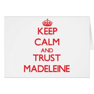 Behalten Sie Ruhe und VERTRAUEN Madeleine Karten