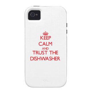 Behalten Sie Ruhe und vertrauen Sie der Vibe iPhone 4 Case