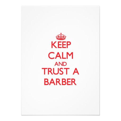 Behalten Sie Ruhe und vertrauen Sie einem Friseur Einladungskarten