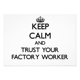 Behalten Sie Ruhe und vertrauen Sie Ihrem Arbeiter Personalisierte Ankündigungen