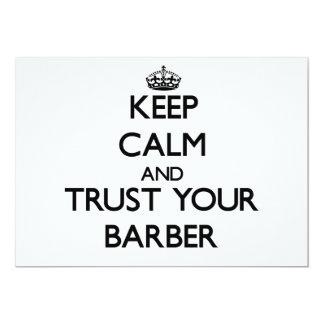 Behalten Sie Ruhe und vertrauen Sie Ihrem Friseur Einladungskarte