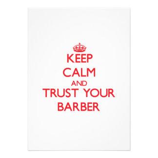 Behalten Sie Ruhe und vertrauen Sie Ihrem Friseur Individuelle Einladungskarten