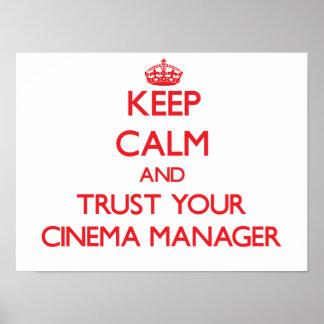 Behalten Sie Ruhe und vertrauen Sie Ihrem Plakat