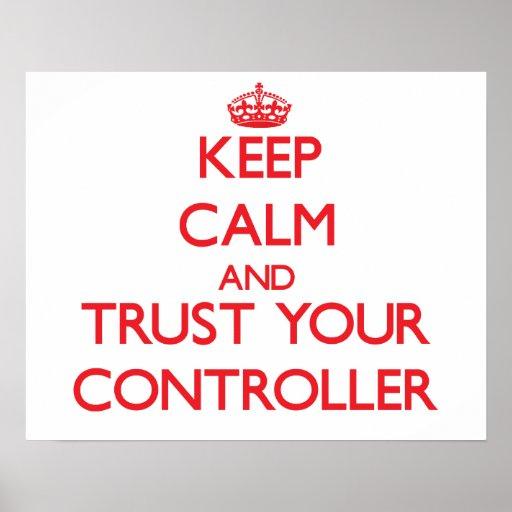 Behalten Sie Ruhe und vertrauen Sie Ihrem Prüfer Plakat
