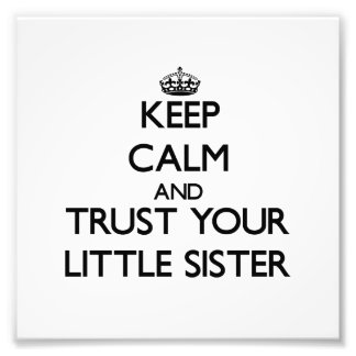 Behalten Sie Ruhe und vertrauen Sie Ihrer kleinen
