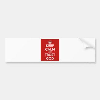 Behalten Sie Ruhe-und Vertrauens-Gott Autoaufkleber