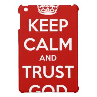Behalten Sie Ruhe-und Vertrauens-Gott iPad Mini Hülle
