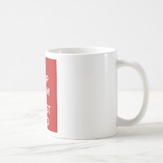 Behalten Sie Ruhe-und Vertrauens-Gott Kaffeetasse