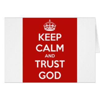 Behalten Sie Ruhe-und Vertrauens-Gott Karte