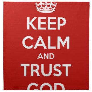 Behalten Sie Ruhe-und Vertrauens-Gott Serviette
