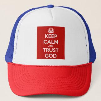 Behalten Sie Ruhe-und Vertrauens-Gott Truckerkappe