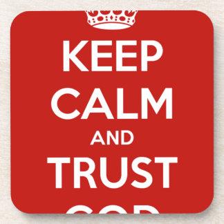 Behalten Sie Ruhe-und Vertrauens-Gott Untersetzer