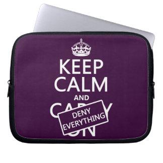 Behalten Sie Ruhe und verweigern Sie alles - alle Laptopschutzhülle