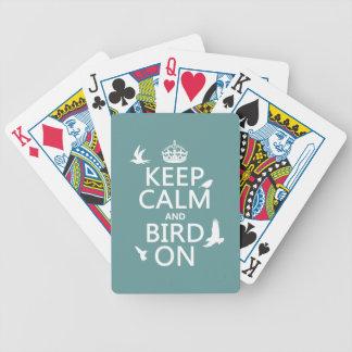 Behalten Sie Ruhe und Vogel an Bicycle Spielkarten