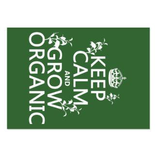 Behalten Sie Ruhe und wachsen Sie Bio (alle Visitenkarten Vorlage