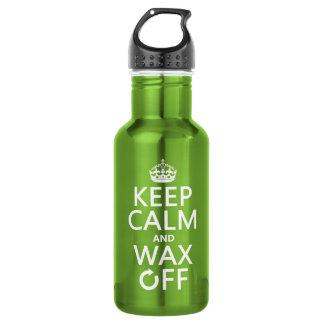 Behalten Sie Ruhe und wachsen Sie weg von ein Trinkflasche