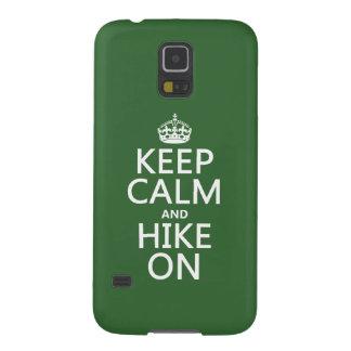 Behalten Sie Ruhe und Wanderung auf (irgendeine Galaxy S5 Hülle
