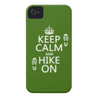 Behalten Sie Ruhe und Wanderung auf (irgendeine iPhone 4 Hüllen