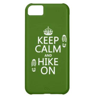 Behalten Sie Ruhe und Wanderung auf (irgendeine iPhone 5C Hülle
