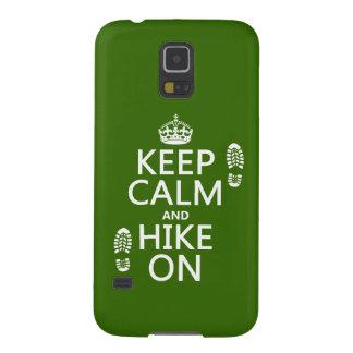 Behalten Sie Ruhe und Wanderung auf (irgendeine Samsung S5 Cover