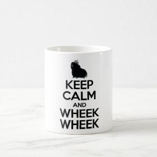 Behalten Sie Ruhe und Wheek Wheek Kaffeetasse
