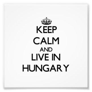 Behalten Sie Ruhe und wohnen Sie in Ungarn Fotografischer Druck