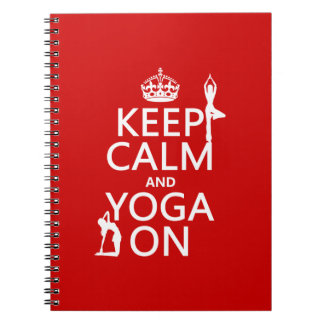 Behalten Sie Ruhe und Yoga auf (fertigen Sie Farbe Notizbuch