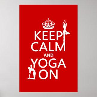 Behalten Sie Ruhe und Yoga auf (fertigen Sie Poster