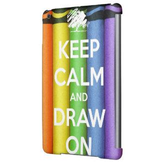 Behalten Sie Ruhe und zeichnen Sie auf Farben
