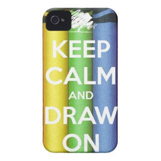 Behalten Sie Ruhe und zeichnen Sie auf Farben iPhone 4 Hülle