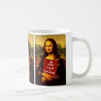Behalten Sie Ruhe und zeichnen Sie Kaffeetasse