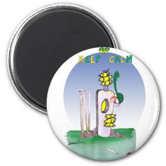 behalten Sie Ruhe und zeigen Sie nie Furcht, tony Runder Magnet 5,1 Cm