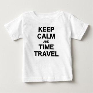 Behalten Sie Ruhe-und Zeit-Reise Baby T-shirt