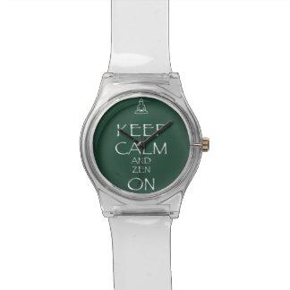 Behalten Sie Ruhe und Zen an, motivieren Spaß Armbanduhr