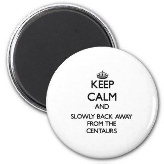 Behalten Sie Ruhe und ziehen Sie langsam sich weg Runder Magnet 5,7 Cm