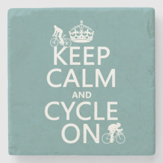 Behalten Sie Ruhe und Zyklus auf (in irgendeiner Steinuntersetzer