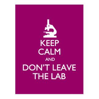 Behalten Sie Ruhe verlassen nicht die Labradorpost Postkarten
