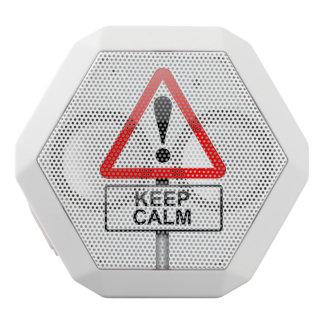 Behalten Sie Ruhe Weiße Bluetooth Lautsprecher