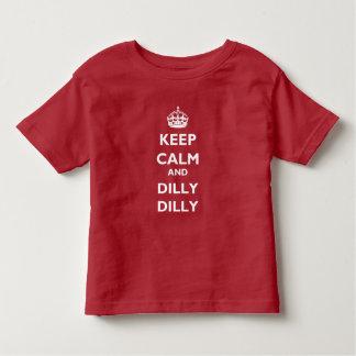 Behalten Sie Ruheund Dillydilly-Kleinkind-Jersey-T Kleinkind T-shirt