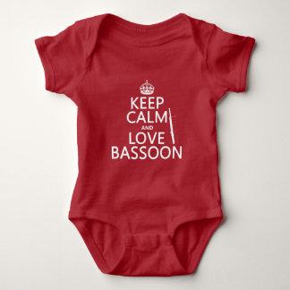 Behalten Sie Ruheund LiebeBassoon (irgendeine Baby Strampler