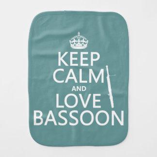 Behalten Sie Ruheund LiebeBassoon (irgendeine Spucktuch