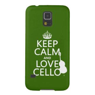 Behalten Sie Ruheund LiebeCello (irgendeine Samsung Galaxy S5 Hülle