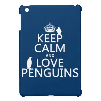 Behalten Sie Ruheund LiebePenguins (irgendeine iPad Mini Hülle