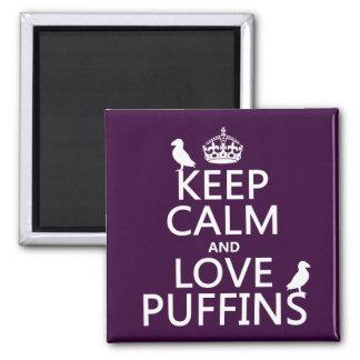 Behalten Sie Ruheund LiebePuffins (irgendeine Quadratischer Magnet