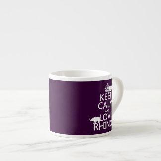 Behalten Sie Ruheund LiebeRhinos (irgendeine Espressotasse