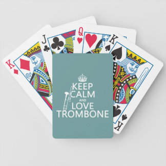 Behalten Sie Ruheund LiebeTrombone (irgendeine Bicycle Spielkarten