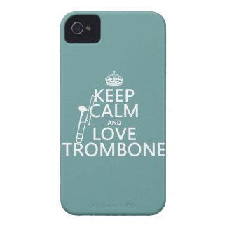 Behalten Sie Ruheund LiebeTrombone (irgendeine Case-Mate iPhone 4 Hüllen