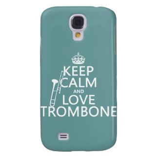 Behalten Sie Ruheund LiebeTrombone (irgendeine Galaxy S4 Hülle