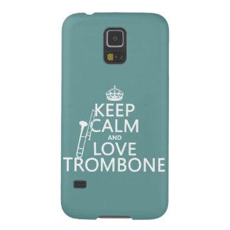 Behalten Sie Ruheund LiebeTrombone (irgendeine Galaxy S5 Cover